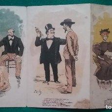 Catálogos publicitarios: ANÍS DEL MONO PUBLICIDAD TRÍPTICO DESPLEGABLE ILUSTRADOR UTRILLO CIRCA 1910. Lote 219176745