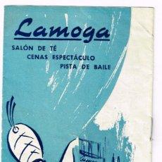 Catálogos publicitarios: LAMOGA, SALÓN DE TÉ, CENAS ESPECTÁCULO PZA. CALVO SOTELO 3, AVDA., GMO. FRANCO, URGEL, BARCELONA. Lote 220226116