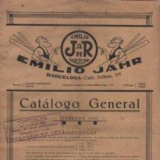 Catálogos publicitarios: CATALOGO D EMILIO JAHR BARCELONA - APEROS Y REMATES EMBELLECEDORES MUEBLES CARPINTERIA 1930. Lote 220834916