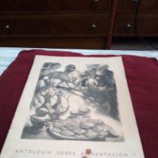 Catálogos publicitarios: LIBRITO ANTOLOGÍA SOBRE ALIMENTACIÓN. GALLETAS ARTIACH.. Lote 221271473