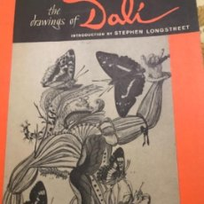 Catálogos publicitarios: THE DRAWINGS OF DALI FIRST EDITION 1964. Lote 221301178