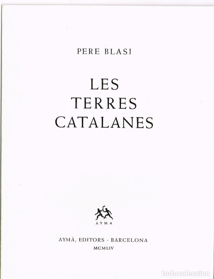 """1954 FOLLETO PUBLICITARIO DEL LIBRO """"LES TERRES CATALANES"""" PERE BLASI TODO SIN GRAPAR FOTOS Y TEXTO (Coleccionismo - Catálogos Publicitarios)"""