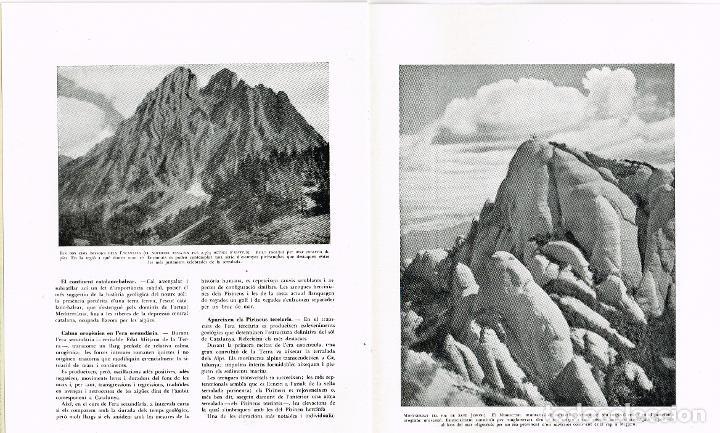 """Catálogos publicitarios: 1954 Folleto Publicitario del libro """"Les Terres Catalanes"""" Pere Blasi todo sin grapar fotos y texto - Foto 3 - 221748461"""