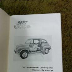 Catálogos publicitarios: PANFLETO SEAT 600 D. Lote 221815527