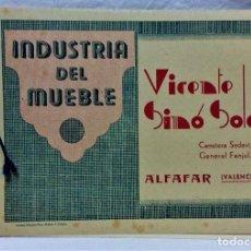 Catálogos publicitarios: ANTIGUO CATÁLOGO INDUSTRIA DEL MUEBLE.VICENTE SIMÓ SOLÉ.ALFAGAR.VALÉNCIA.IMP HISPANIA. Lote 221865146