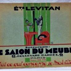 Catálogos publicitarios: ANTIGUO CATÁLOGO DE MUEBLES LE SALON DU MUEBLE.ETS .LEVITAN.PARIS.AÑOS 30.. Lote 221869423