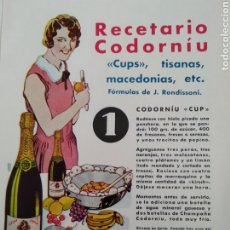 Catálogos publicitarios: PUBLICIDAD PERTENECIENTE A REVISTA AÑO 1933-1934 24CMX17CM.CODORNIU. Lote 221885263