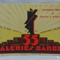 Catálogos publicitarios: CATÁLOGO ESPECIAL DE CAMAS Y TAPICERIA.GALERIAS BARBÉS,PARÍS.AÑO 30.EN FRANCÉS.. Lote 221922820