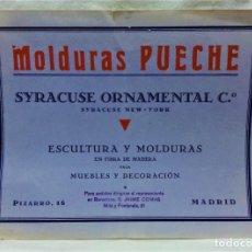 Catálogos publicitarios: ANTIGUO CATÁLOGO MOLDURAS PUECHE,MADRID.ESCULTURA Y MOLDURAS EN FIBRA DE MADERA.1RA MITAD S.XX. Lote 221923646