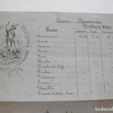 Catálogos publicitarios: LA HISPANO AMERICANA-FABRICA LICORES-BARCELONA-AÑO 1878-CATALOGO PUBLICIDAD LICORES-VER FOTOS(K-793). Lote 221944998