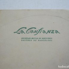 Catálogos publicitarios: LA CONFIANZA-SOCIEDAD DE MAESTROS SASTRES-CATALOGO PUBLICIDAD MODA-AÑO 1933-VER FOTOS-(K-795). Lote 221950272