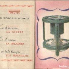 Catálogos publicitarios: CATALOGO RECETARIO PRACTIC AÑOS 40 INSTRUCCIONES PIEZAS ESTUFA HELADORA Y HORNILLO A PETROLEO. Lote 222147105