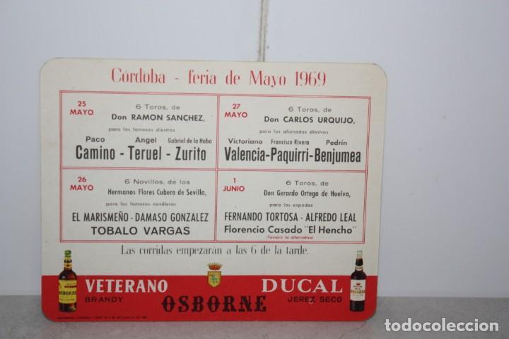 Catálogos publicitarios: Tarjeta de corrida de toros Córdoba 1969 - Foto 2 - 222190876
