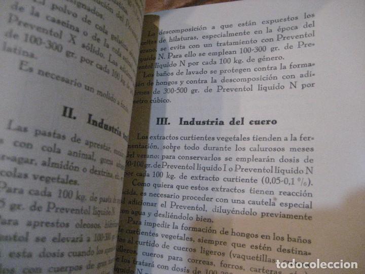 Catálogos publicitarios: catalogo preventol . producto para la conservacion de los productos industriales . anti hongos - Foto 6 - 222266297