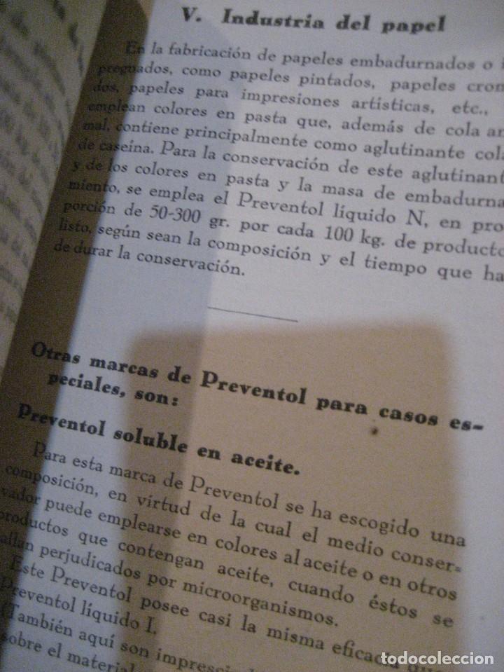 Catálogos publicitarios: catalogo preventol . producto para la conservacion de los productos industriales . anti hongos - Foto 7 - 222266297
