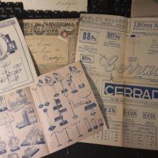 Catálogos publicitarios: CARLOS NAVARRO .ZARAGOZA. ARTÍCULOS PARA ESCAPARATES.. Lote 222376521