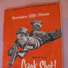 Catálogos publicitarios: INTERNATIONAL SHOOTING AND HUNTING BULLETIN. JULIO 1962. REMINGTON DU PONT. 15 PAG.. Lote 222393028