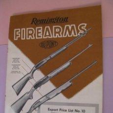 Catálogos publicitarios: CATALOGO REMINGTON FIREARMS. DU PONT. ENERO 1957. EE. UU. 13 PAG.. Lote 222393148