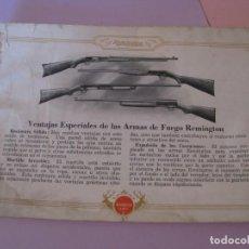 Catálogos publicitarios: CATALOGO RIFLES REMINGTON. 60 PAGINAS. 23X16 CM. LEER LA DESCRIPCIÓN.. Lote 222393676