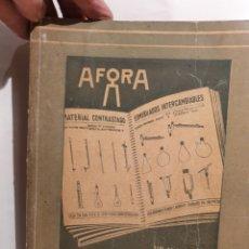 Catálogos publicitarios: AFORA. CATALOGO GENERAL 1954. MATERIAL LABORATORIO.. Lote 222940381