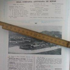 Catalogues publicitaires: REAL COMPAÑIA ASTURIANA DE MINAS, RENTERIA. FUNDICIONES VERA BIDASOA 1938. HOJA DE CATALOGO. Lote 223045092
