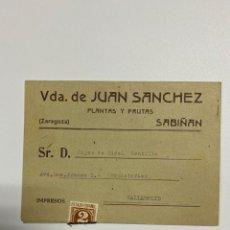 Catálogos publicitarios: LISTA DE PRECIOS. VIVEROS VIUDA DE JUAN SANCHEZ. SABIÑAN-ZARAGOZA. CAMPAÑA 1943-44. VER. Lote 223332057