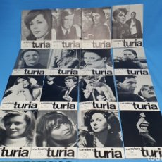 Catálogos publicitarios: 16 NÚMEROS DE CARTELERA TURIA - 1969. Lote 223905876