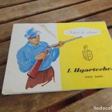 Catálogos publicitarios: CATALOGO Y LISTA DE PRECIOS DE ESCOPETAS DE CAZA DE I, UGARTECHEA EIBAR ESPAÑA FABRICA DE ARMAS. Lote 227880845