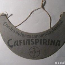 Catálogos publicitarios: BONITA ANTIGUA VISERA PUBLICIDAD CAFIASPIRINA CORIFINA BAYER. Lote 229482010