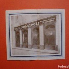Catálogos publicitarios: MOBLE I DECORACIÓ D'INTERIORS POU I RIPOLL BARCELONA CARPINTERIA CONSTRUCCIONES TELF. 1452 A. Lote 229716995
