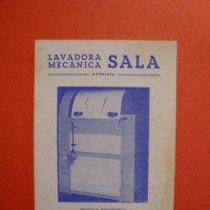 Catálogos publicitarios: LAVADORA MECANICA SALA. Lote 229720455