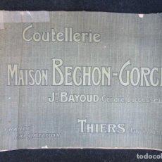 Catálogos publicitarios: CATALOGO FRANCES FINALES XIX - NAVAJAS Y AFEITAR CUCHILLOS CUBERTERIAS TIJERAS - MAISON BECHON+ INFO. Lote 230596980