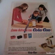 Catálogos publicitarios: COLA CAO REVERSO MECHERO FLAMINAIRE ANUNCIO PUBLICIDAD REVISTA AÑO 1969. Lote 232173730