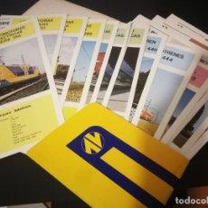 Catalogues publicitaires: RENFE - FICHAS MATERIAL MOTOR Y REMOLCADO - EDICION 1983-1984 - FERROCARRILES. Lote 232680160