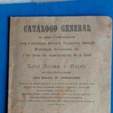 Catalogues publicitaires: T-475.- CATALOGO GENERAL -- ETMOLOGIA, BOTANICA, TAXIDERMIA, ETC, ETC, Nº- 4, VER FOTOS ,. Lote 233732460