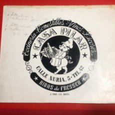 Cataloghi pubblicitari: DIBUJO ORIGINAL PARA PUBLICIDAD. RIBES DE FRESER (GIRONA). Lote 234711560