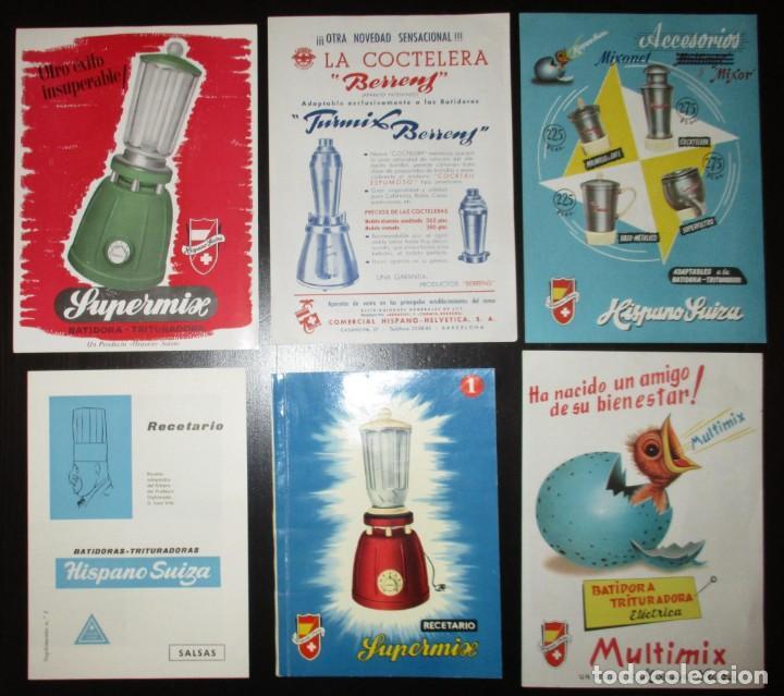 Catálogos publicitarios: BATIDORAS Y COCTELERA HISPANO-SUIZA. SEIS FOLLETOS Y RECETARIOS ORIGINALES DE LOS AÑOS 50. - Foto 2 - 234727150