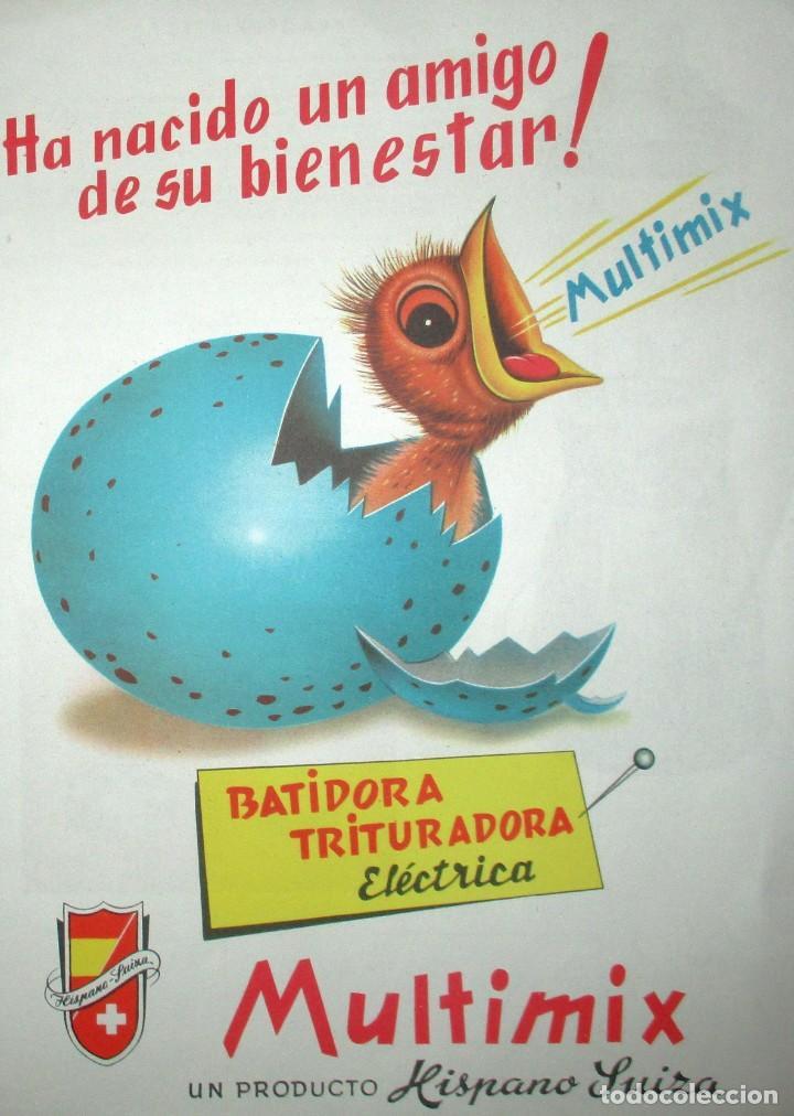 Catálogos publicitarios: BATIDORAS Y COCTELERA HISPANO-SUIZA. SEIS FOLLETOS Y RECETARIOS ORIGINALES DE LOS AÑOS 50. - Foto 3 - 234727150