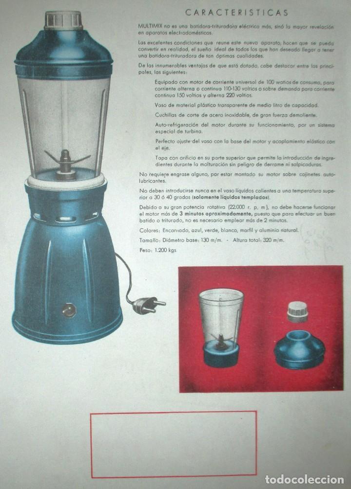 Catálogos publicitarios: BATIDORAS Y COCTELERA HISPANO-SUIZA. SEIS FOLLETOS Y RECETARIOS ORIGINALES DE LOS AÑOS 50. - Foto 4 - 234727150