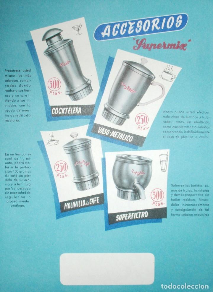 Catálogos publicitarios: BATIDORAS Y COCTELERA HISPANO-SUIZA. SEIS FOLLETOS Y RECETARIOS ORIGINALES DE LOS AÑOS 50. - Foto 6 - 234727150
