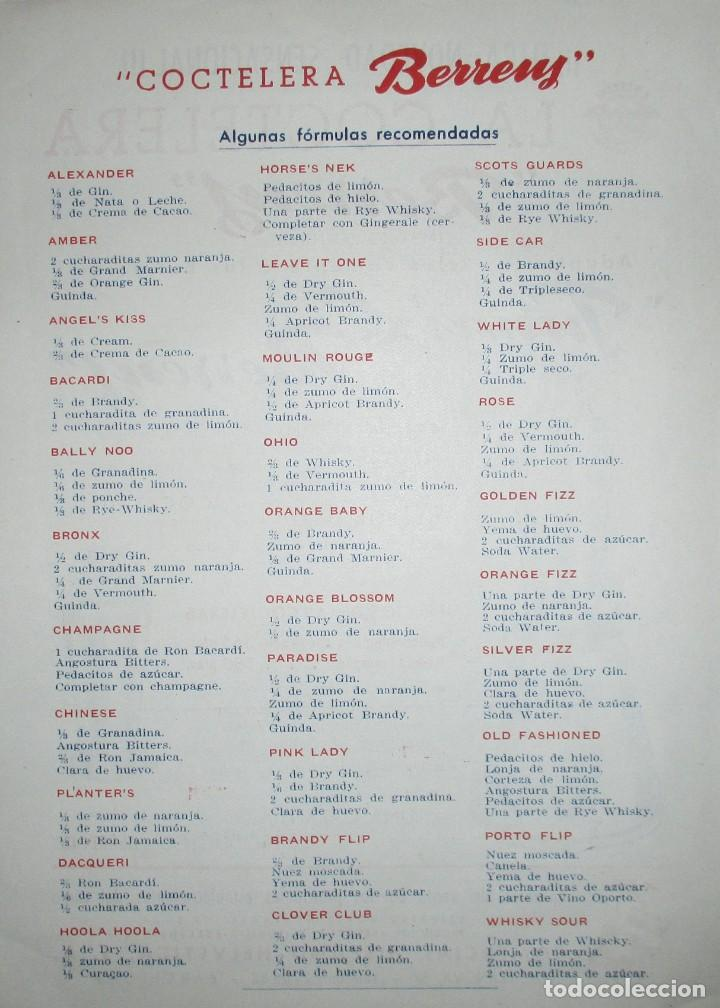 Catálogos publicitarios: BATIDORAS Y COCTELERA HISPANO-SUIZA. SEIS FOLLETOS Y RECETARIOS ORIGINALES DE LOS AÑOS 50. - Foto 10 - 234727150