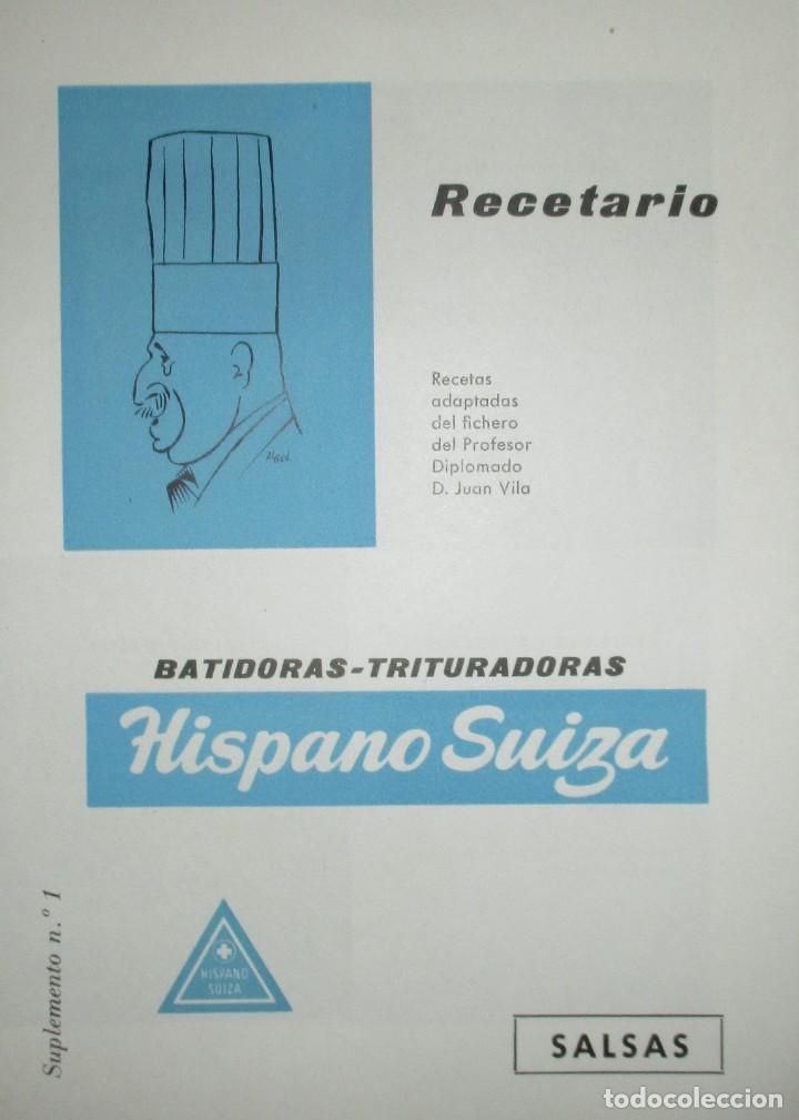 Catálogos publicitarios: BATIDORAS Y COCTELERA HISPANO-SUIZA. SEIS FOLLETOS Y RECETARIOS ORIGINALES DE LOS AÑOS 50. - Foto 11 - 234727150