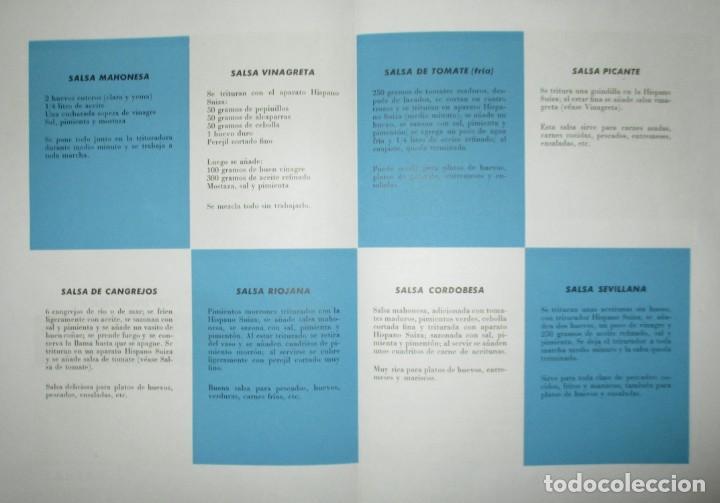 Catálogos publicitarios: BATIDORAS Y COCTELERA HISPANO-SUIZA. SEIS FOLLETOS Y RECETARIOS ORIGINALES DE LOS AÑOS 50. - Foto 12 - 234727150