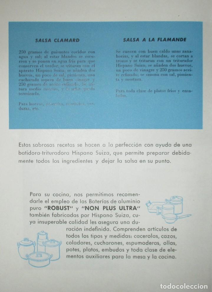 Catálogos publicitarios: BATIDORAS Y COCTELERA HISPANO-SUIZA. SEIS FOLLETOS Y RECETARIOS ORIGINALES DE LOS AÑOS 50. - Foto 13 - 234727150