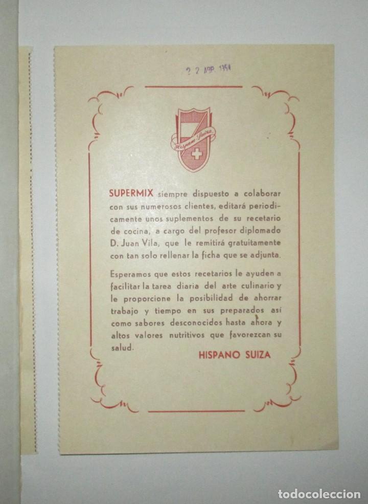 Catálogos publicitarios: BATIDORAS Y COCTELERA HISPANO-SUIZA. SEIS FOLLETOS Y RECETARIOS ORIGINALES DE LOS AÑOS 50. - Foto 15 - 234727150