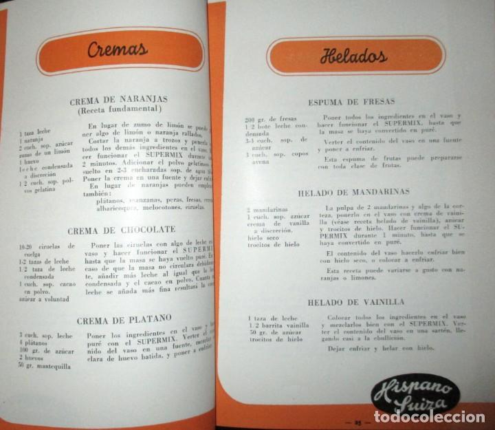 Catálogos publicitarios: BATIDORAS Y COCTELERA HISPANO-SUIZA. SEIS FOLLETOS Y RECETARIOS ORIGINALES DE LOS AÑOS 50. - Foto 17 - 234727150