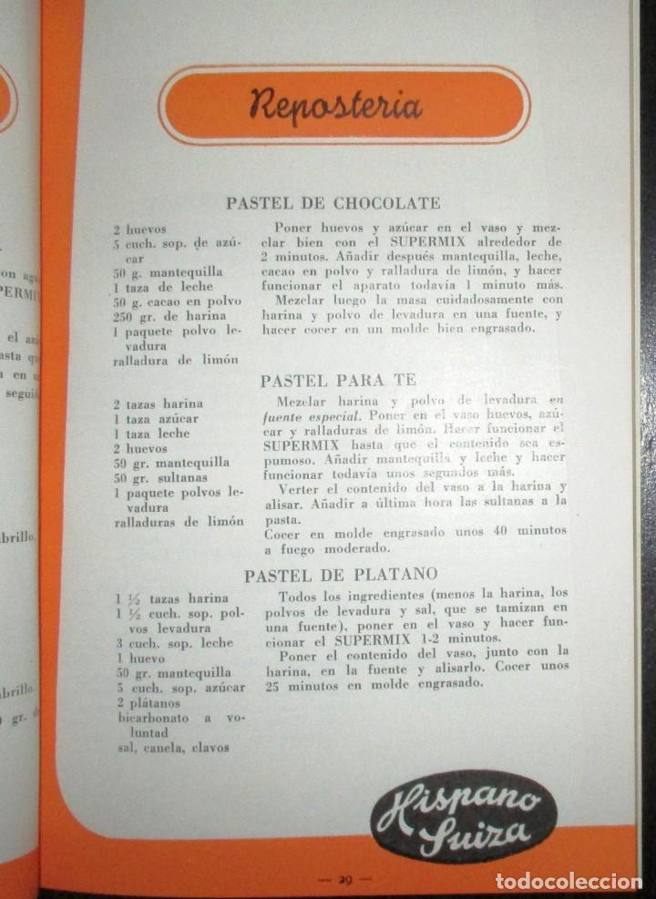 Catálogos publicitarios: BATIDORAS Y COCTELERA HISPANO-SUIZA. SEIS FOLLETOS Y RECETARIOS ORIGINALES DE LOS AÑOS 50. - Foto 18 - 234727150