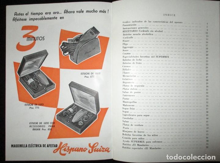 Catálogos publicitarios: BATIDORAS Y COCTELERA HISPANO-SUIZA. SEIS FOLLETOS Y RECETARIOS ORIGINALES DE LOS AÑOS 50. - Foto 19 - 234727150