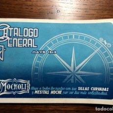 Catálogos publicitarios: CATÁLOGO GENERAL 1949 MOCHOLI MUEBLES (SILLAS, THONET, PERCHERO...). Lote 234903965