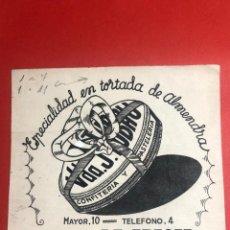 Cataloghi pubblicitari: DIBUJO ORIGINAL PARA PUBLICIDAD. CONFITERÍA Y PASTELERÍA VDA. J. TUBAU (RIBES DE FRESER, GIRONA). Lote 234918055